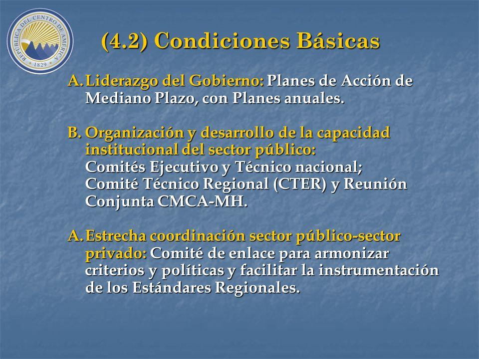 (4.2) Condiciones Básicas