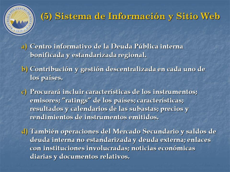 (5) Sistema de Información y Sitio Web