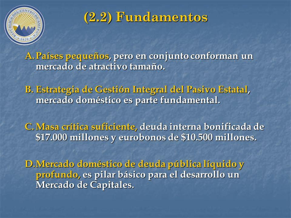 (2.2) Fundamentos Países pequeños, pero en conjunto conforman un mercado de atractivo tamaño.