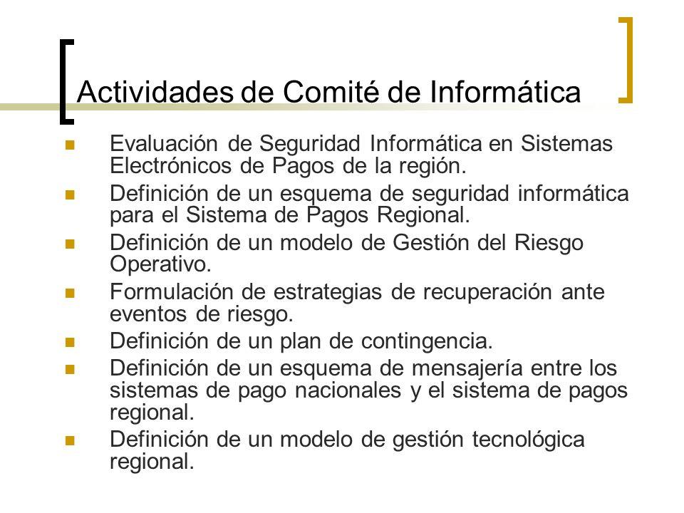 Actividades de Comité de Informática