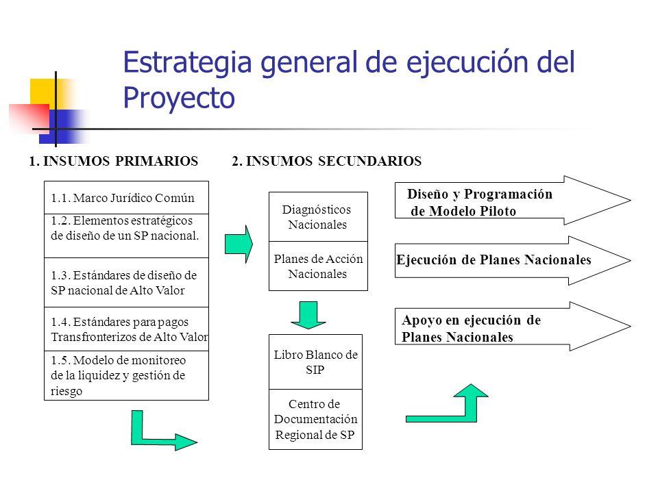 Estrategia general de ejecución del Proyecto