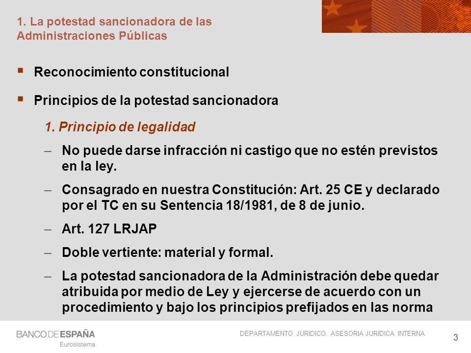 1. La potestad sancionadora de las Administraciones Públicas