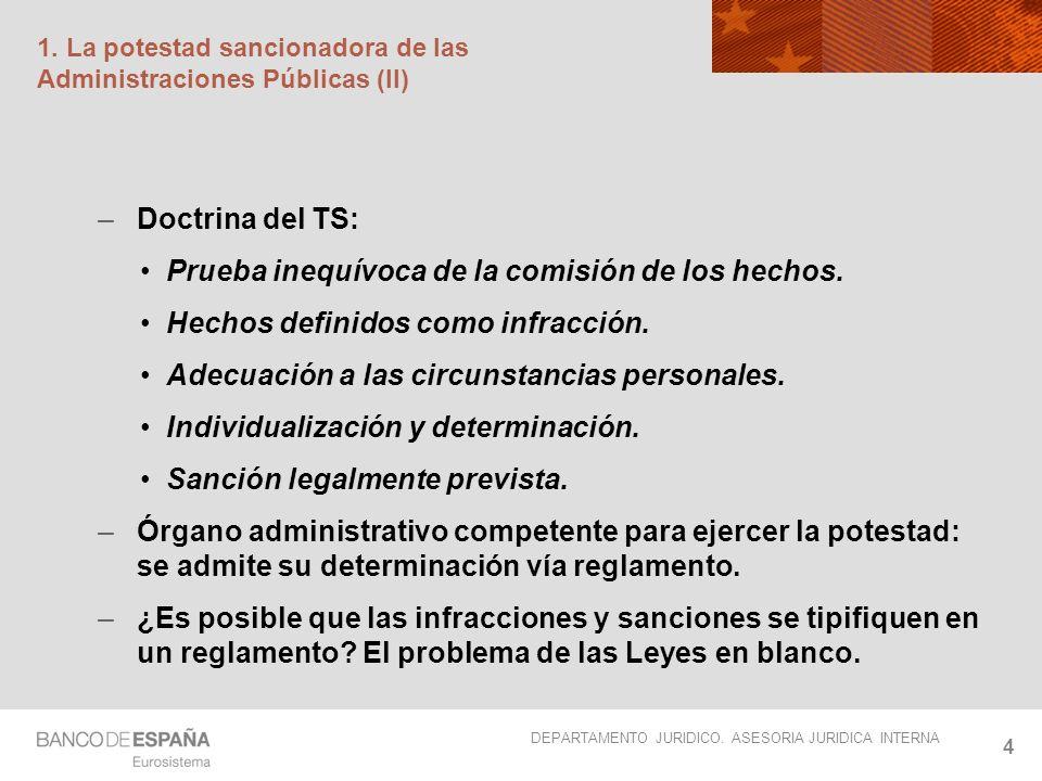 1. La potestad sancionadora de las Administraciones Públicas (II)