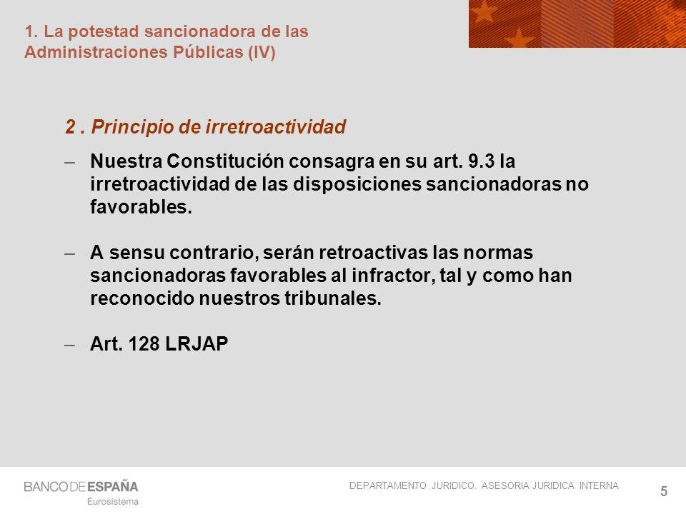 1. La potestad sancionadora de las Administraciones Públicas (IV)