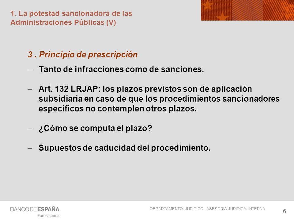 1. La potestad sancionadora de las Administraciones Públicas (V)