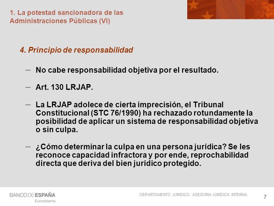 1. La potestad sancionadora de las Administraciones Públicas (VI)