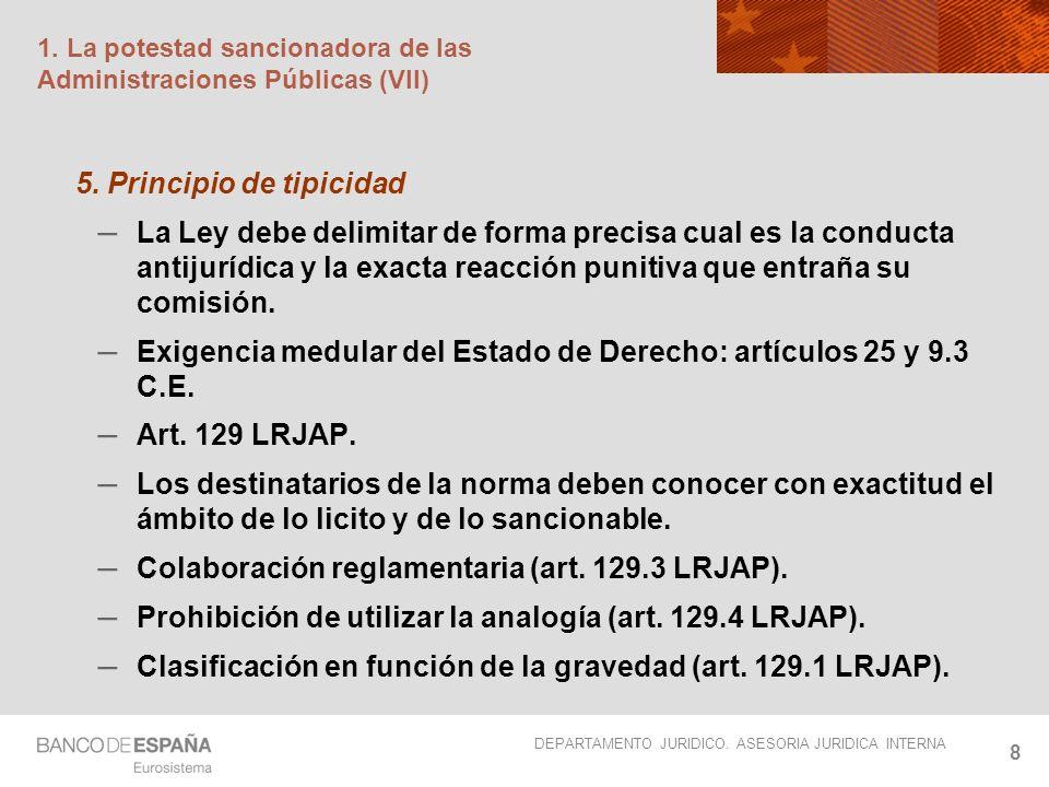 1. La potestad sancionadora de las Administraciones Públicas (VII)