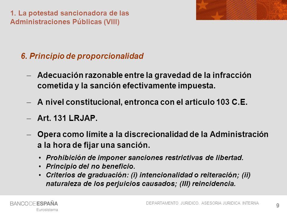 1. La potestad sancionadora de las Administraciones Públicas (VIII)