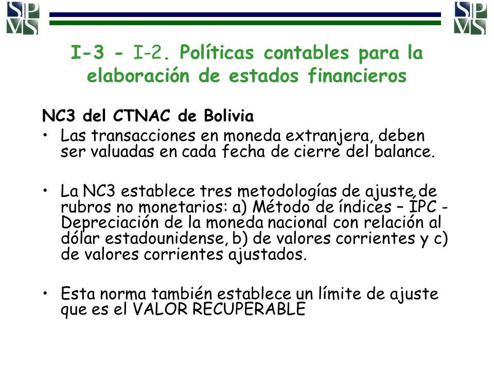 I-3 - I-2. Políticas contables para la elaboración de estados financieros