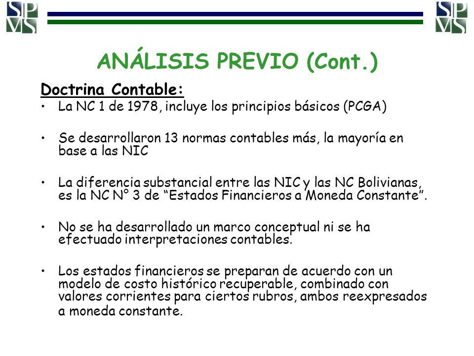 ANÁLISIS PREVIO (Cont.)