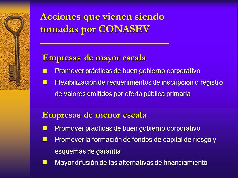 Empresas de mayor escala Empresas de menor escala