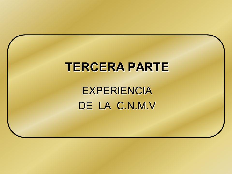 Intervencion de Firmas de Valores. 27/05/99 EXPERIENCIA DE LA C.N.M.V