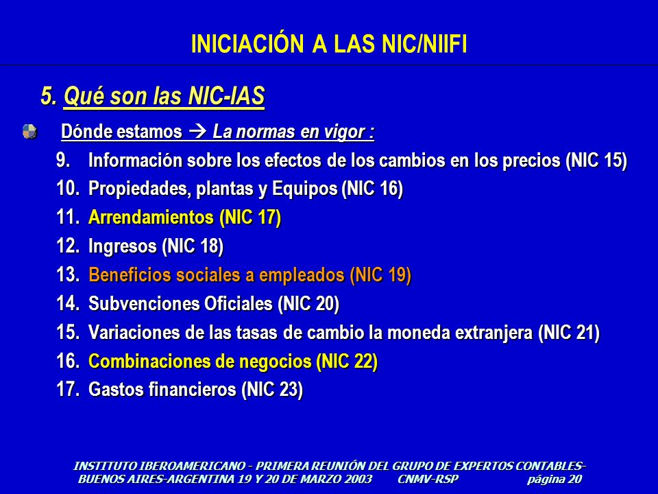 INICIACIÓN A LAS NIC/NIIFI