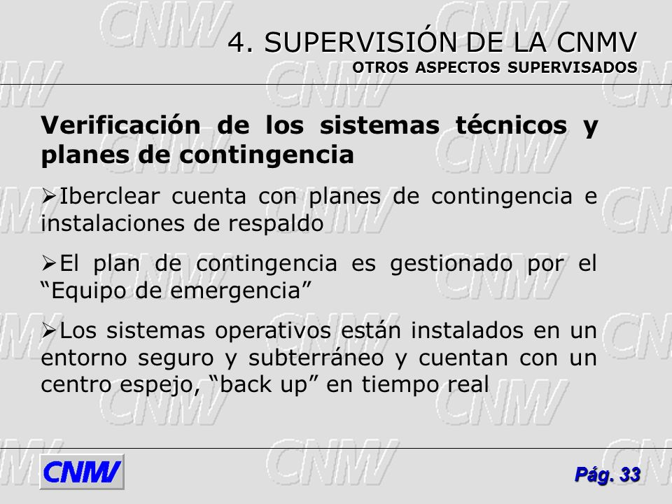 4. SUPERVISIÓN DE LA CNMV OTROS ASPECTOS SUPERVISADOS