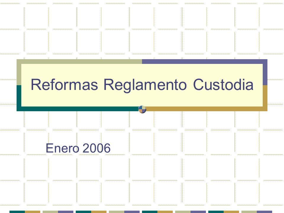 Reformas Reglamento Custodia