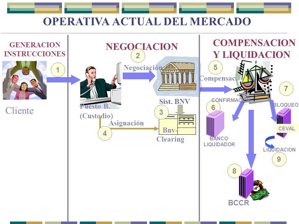 OPERATIVA ACTUAL DEL MERCADO