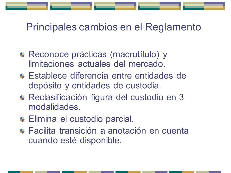 Principales cambios en el Reglamento
