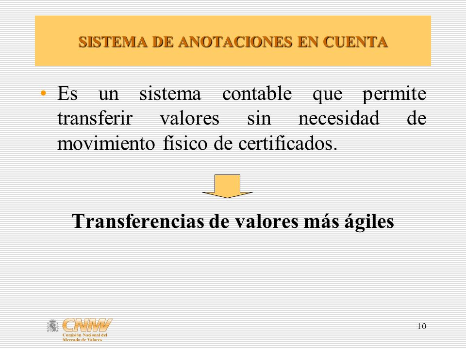SISTEMA DE ANOTACIONES EN CUENTA