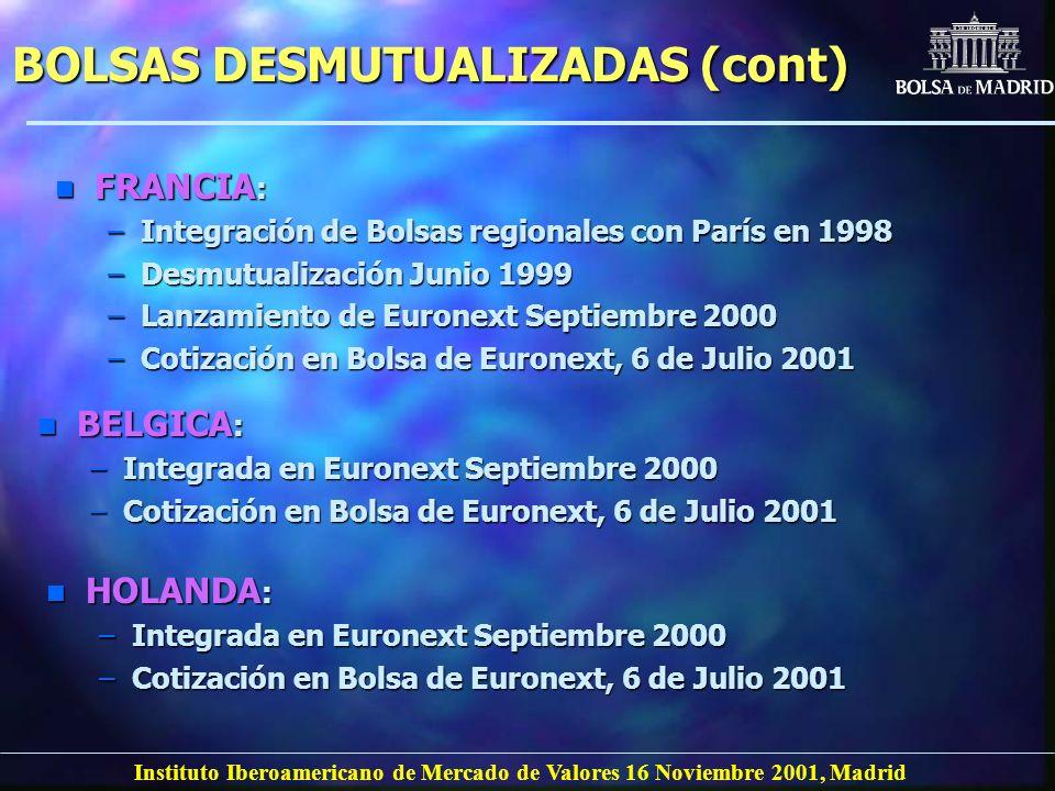 BOLSAS DESMUTUALIZADAS (cont)