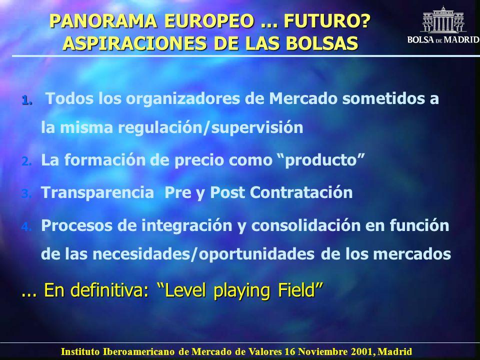 PANORAMA EUROPEO ... FUTURO ASPIRACIONES DE LAS BOLSAS