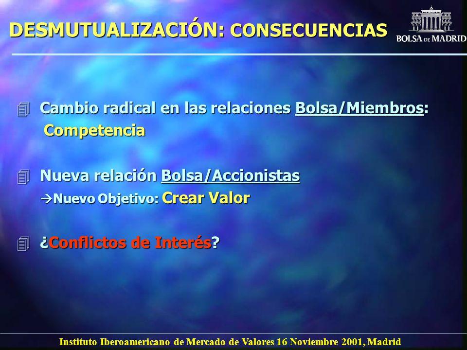 DESMUTUALIZACIÓN: CONSECUENCIAS