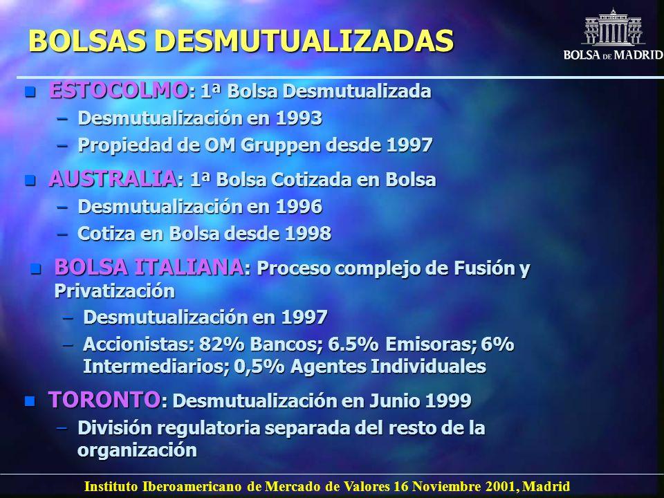 BOLSAS DESMUTUALIZADAS
