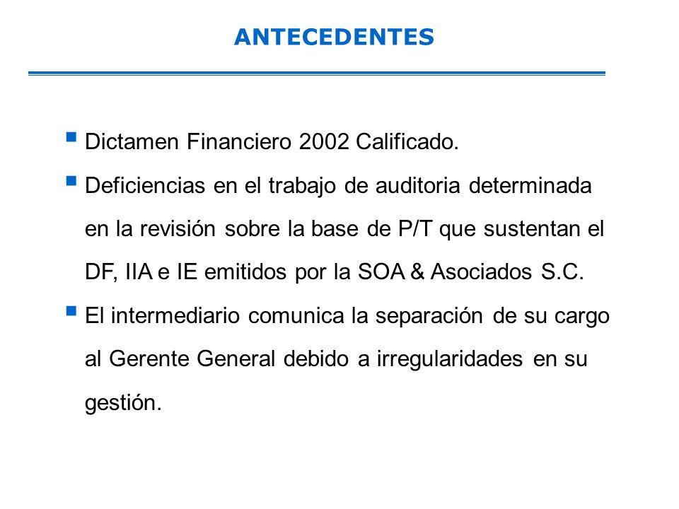 ANTECEDENTESDictamen Financiero 2002 Calificado.