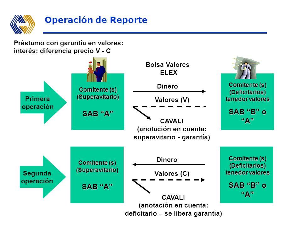 Operación de Reporte SAB B o A SAB A SAB B o A SAB A