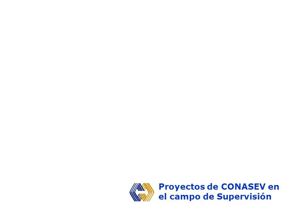 Proyectos de CONASEV en el campo de Supervisión