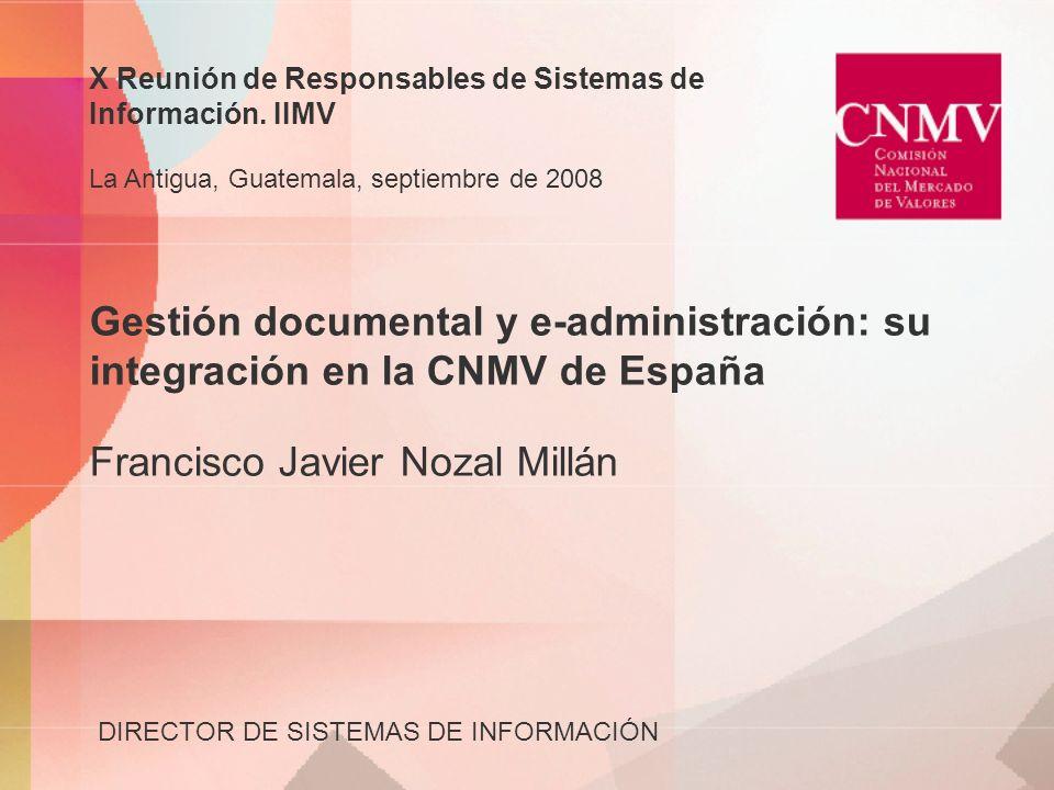 X Reunión de Responsables de Sistemas de Información. IIMV