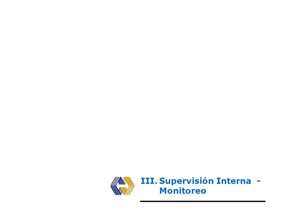 III. Supervisión Interna - Monitoreo