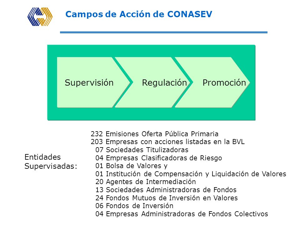 Campos de Acción de CONASEV