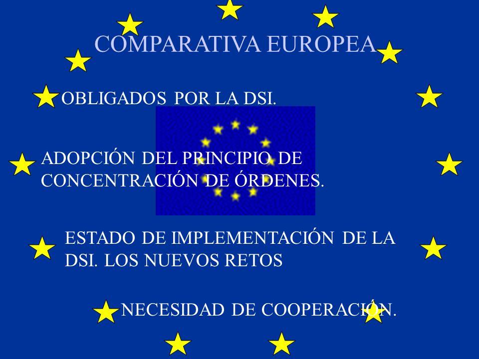 COMPARATIVA EUROPEA OBLIGADOS POR LA DSI.