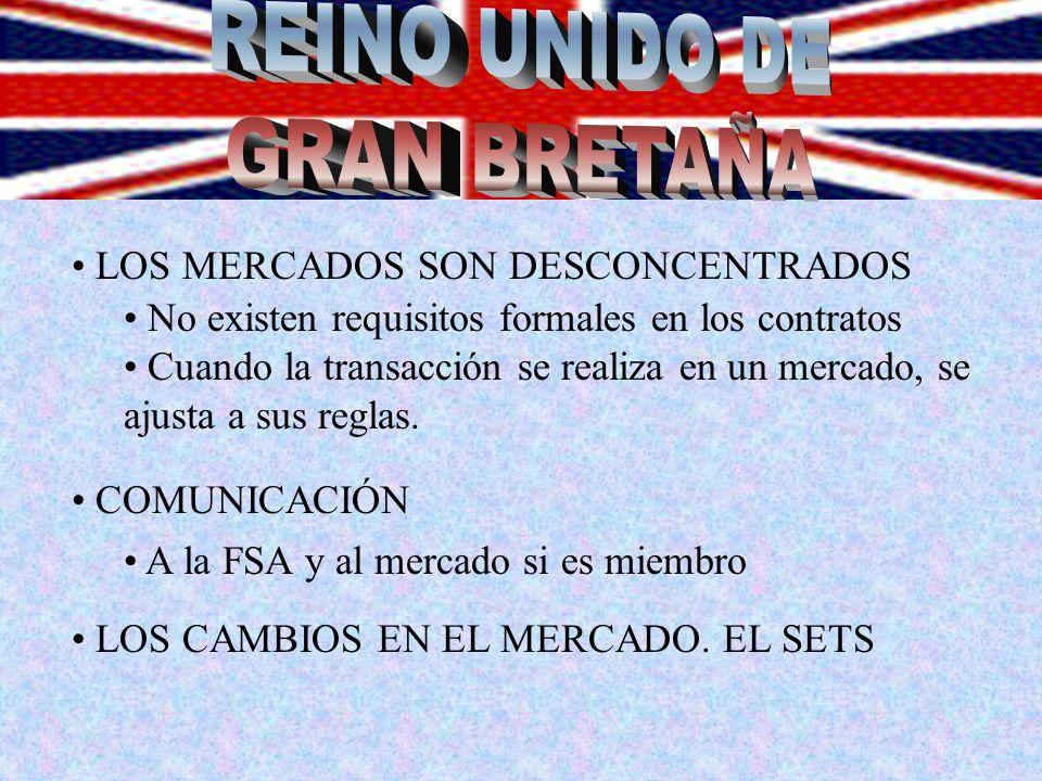 REINO UNIDO DE GRAN BRETAÑA LOS MERCADOS SON DESCONCENTRADOS