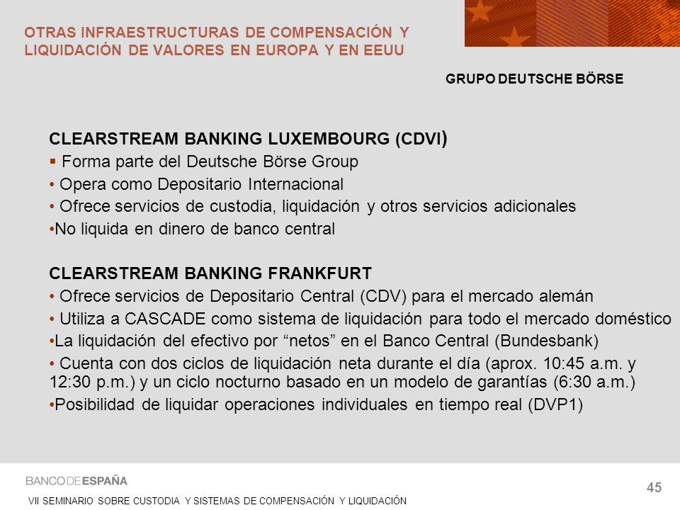 CLEARSTREAM BANKING LUXEMBOURG (CDVI)
