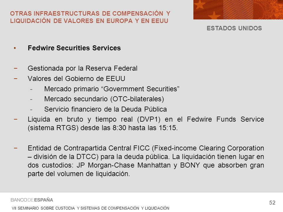 Fedwire Securities Services Gestionada por la Reserva Federal
