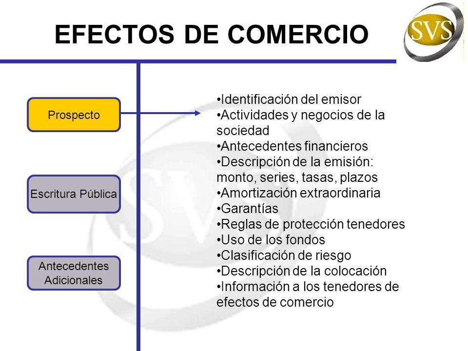 EFECTOS DE COMERCIO Identificación del emisor