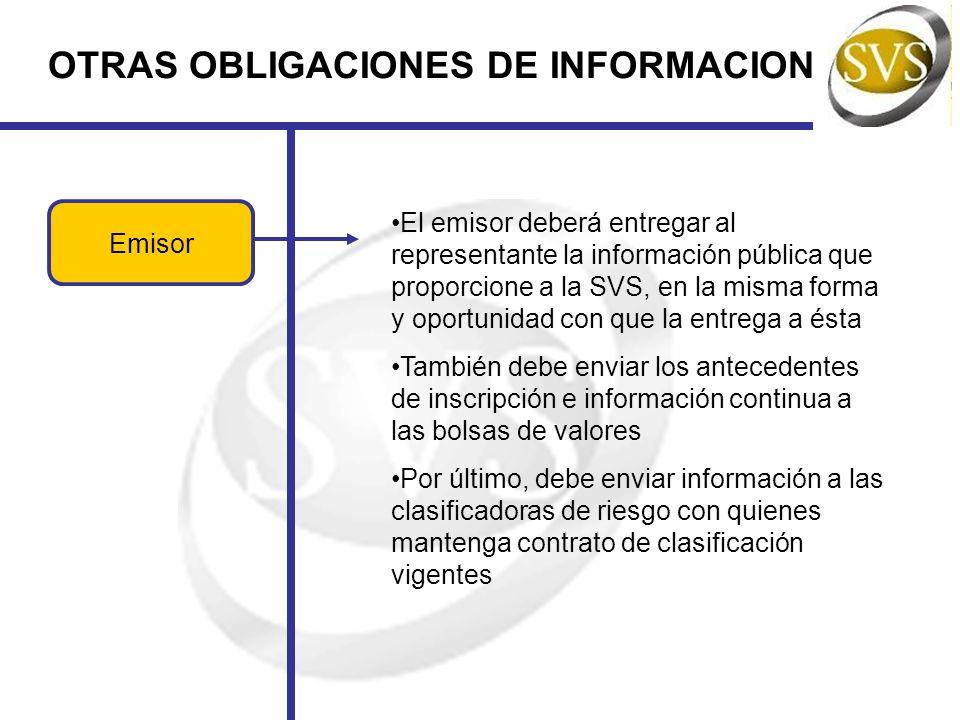 OTRAS OBLIGACIONES DE INFORMACION