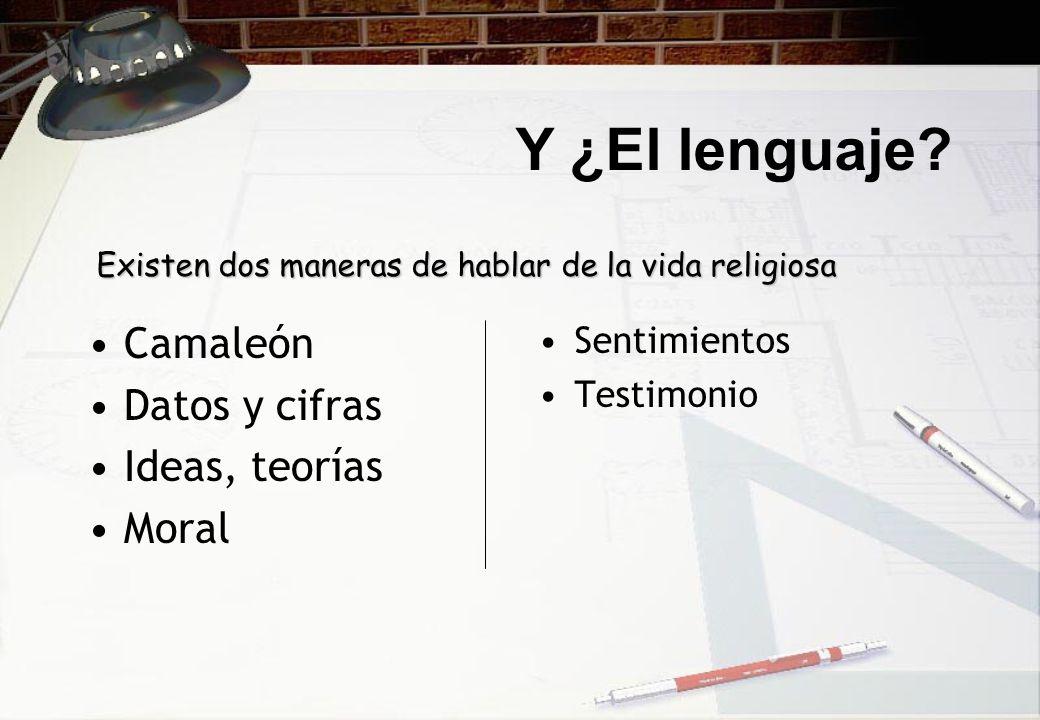 Y ¿El lenguaje Camaleón Datos y cifras Ideas, teorías Moral