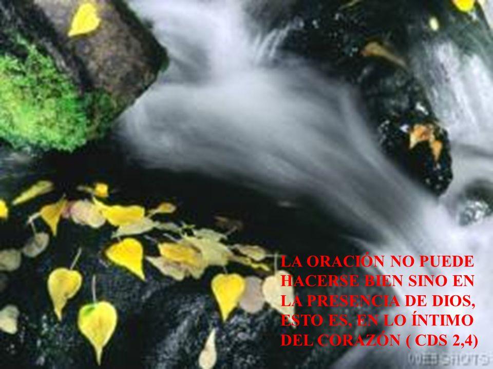 LA ORACIÓN NO PUEDE HACERSE BIEN SINO EN LA PRESENCIA DE DIOS, ESTO ES, EN LO ÍNTIMO DEL CORAZÓN ( CDS 2,4)