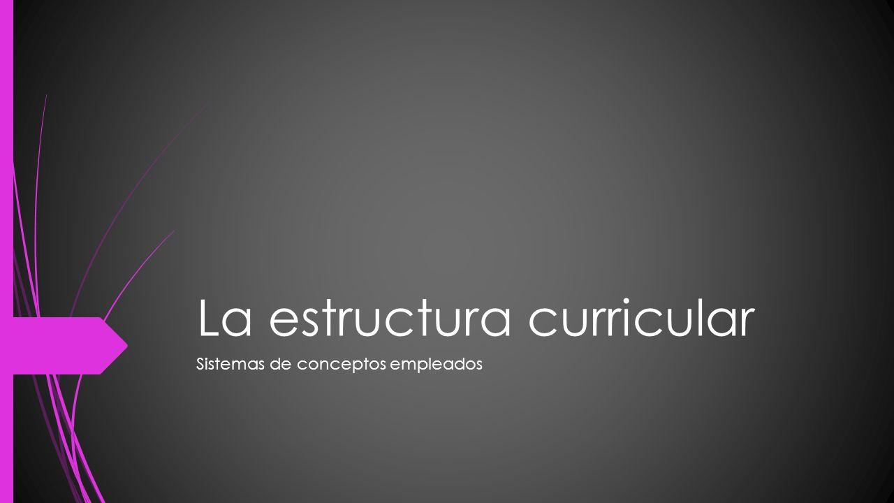 La Estructura Curricular Ppt Video Online Descargar