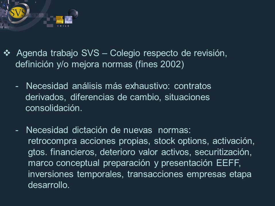 Agenda trabajo SVS – Colegio respecto de revisión,
