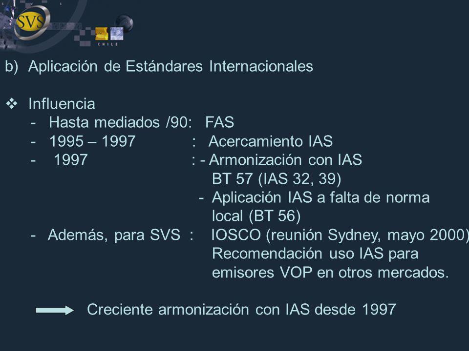 Aplicación de Estándares Internacionales