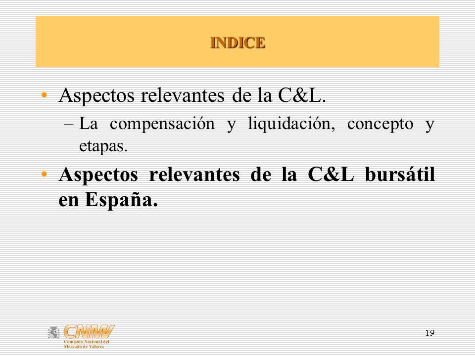 Aspectos relevantes de la C&L.