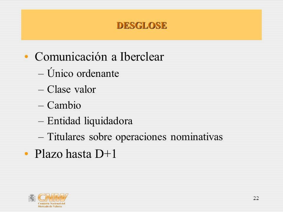 Comunicación a Iberclear