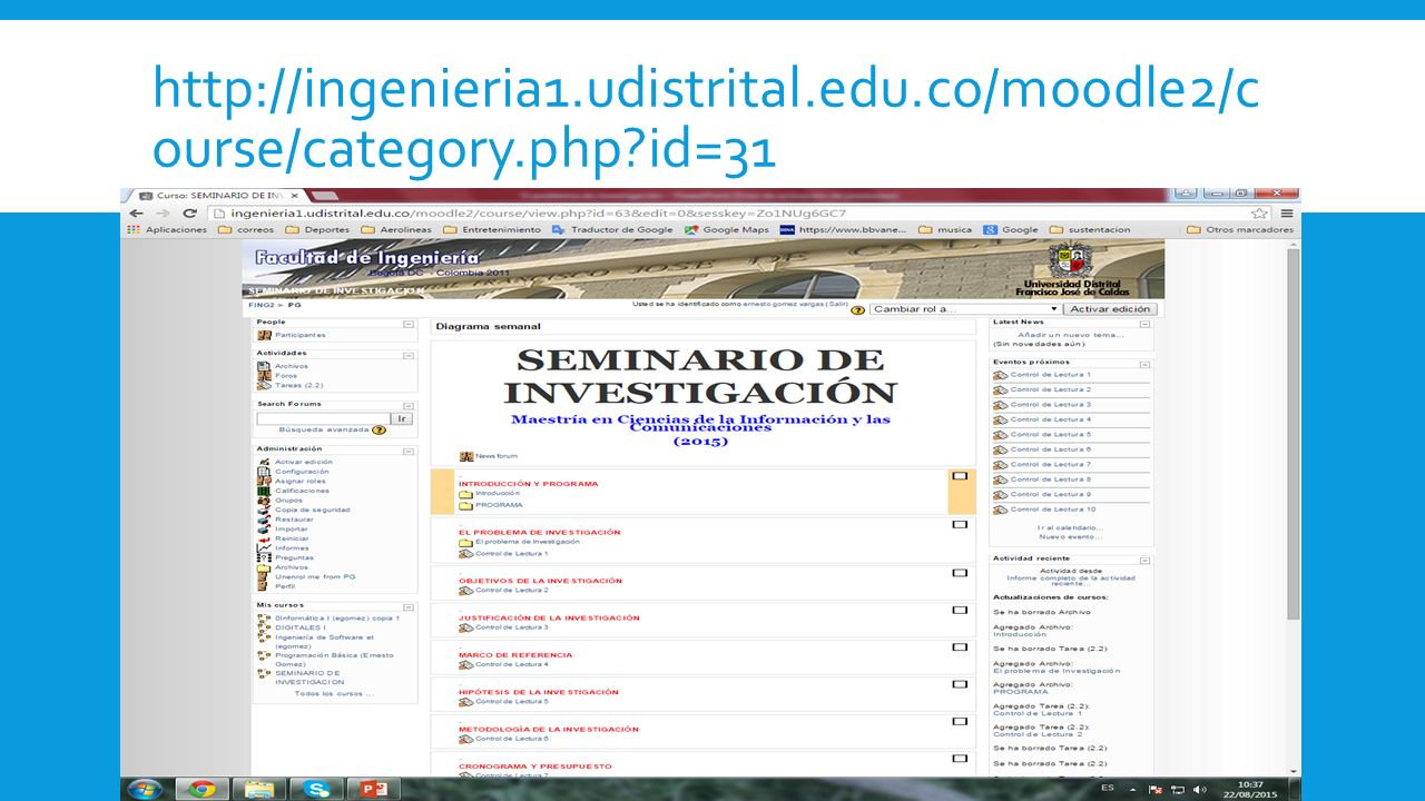 http://ingenieria1. udistrital. edu. co/moodle2/course/category. php
