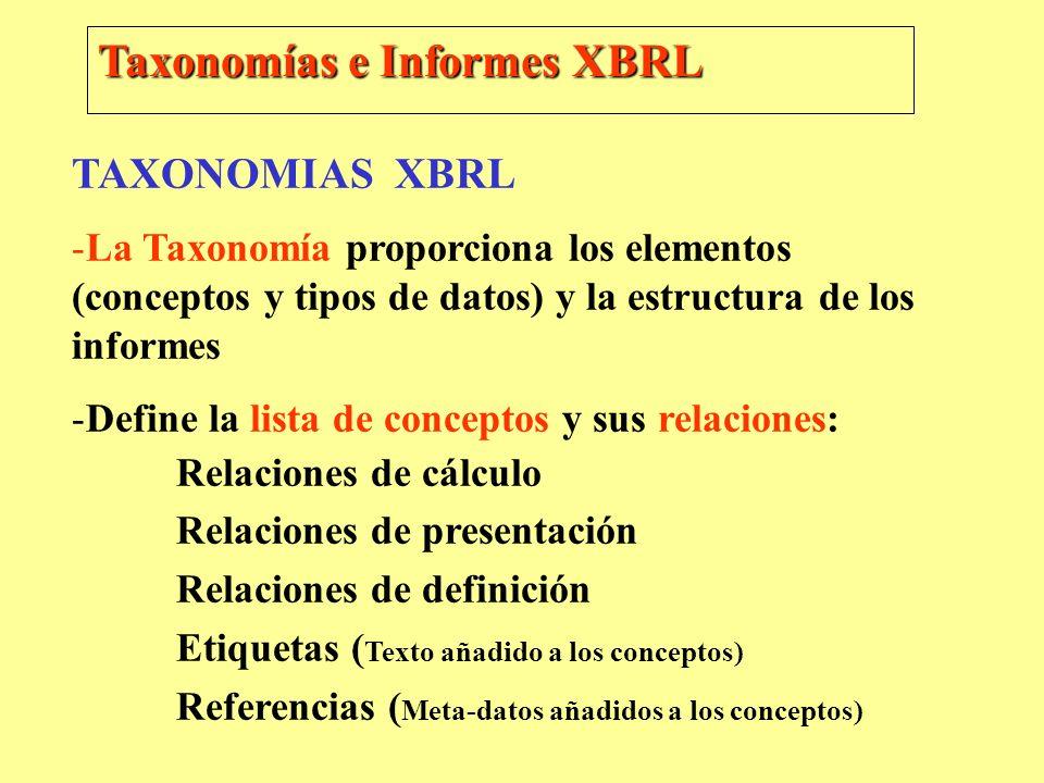 Taxonomías e Informes XBRL