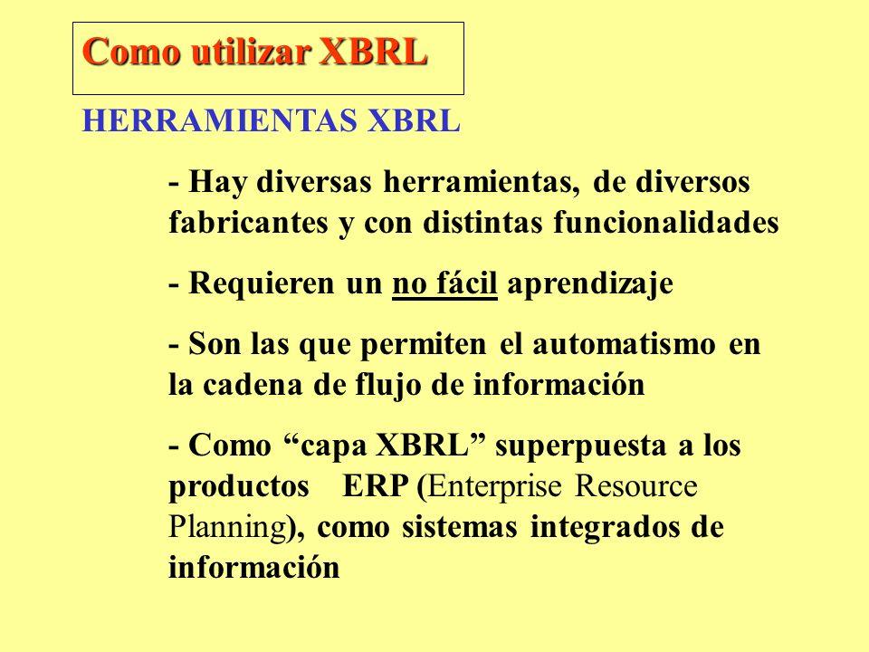 Como utilizar XBRL HERRAMIENTAS XBRL