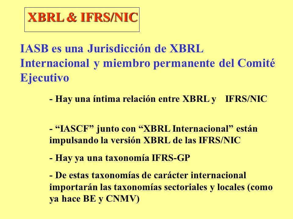 XBRL & IFRS/NIC IASB es una Jurisdicción de XBRL Internacional y miembro permanente del Comité Ejecutivo.