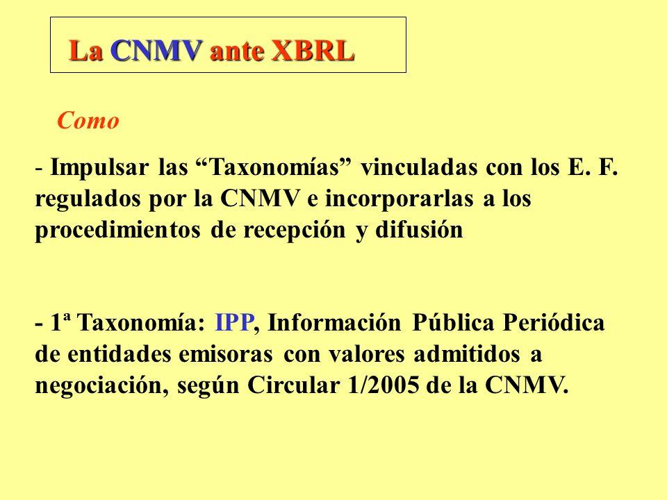La CNMV ante XBRL Como.
